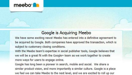 Google is Acquiring Meebo