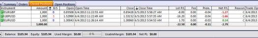 EUR/GBP: -8; GBP/USD: -16; EUR/USD: +1