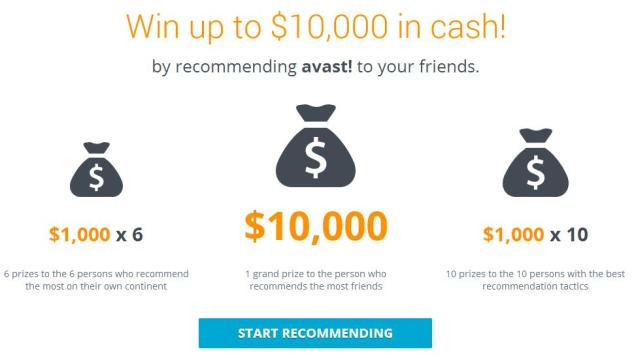 $10,000 Avast Giveaway