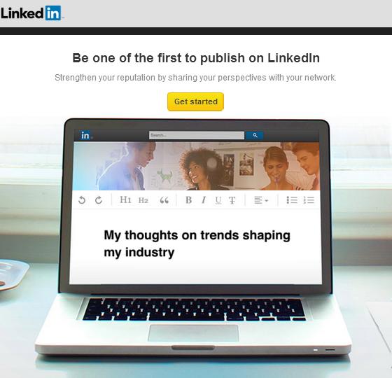 Invitation to Publish on LinkedIn