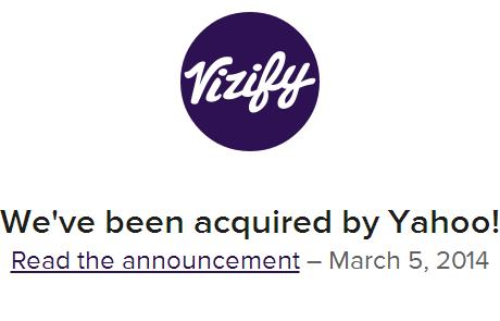 Vizify acquired by Yahoo!