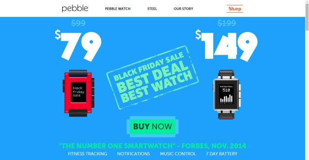 Get Pebble Black Friday Sale
