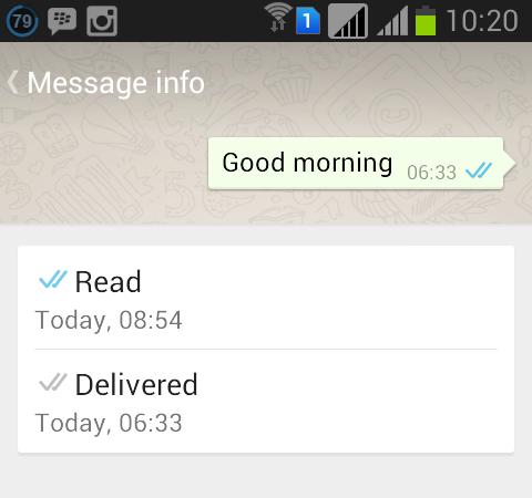 Whatsapp blue double tick