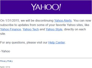 Yahoo! Alerts